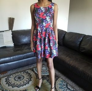 Beautiful, multi-colored, floral, Forever 21 dress